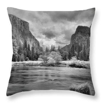 A Storm Draws Near - Black And White Throw Pillow by Lynn Bauer