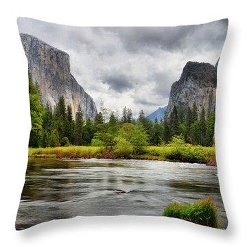 A Storm Draws Near  Throw Pillow