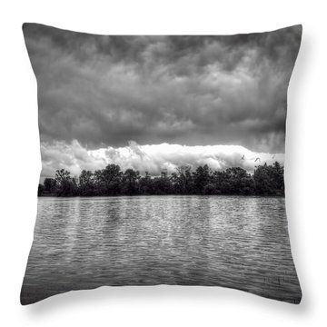 A Storm Rolls By Throw Pillow by Thomas Young