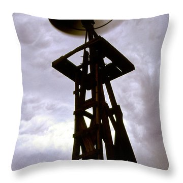 Throw Pillow featuring the photograph A Storm This Way Comes by Jason Politte