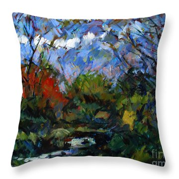 A Stream Runs Through It Throw Pillow by Charlie Spear