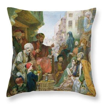 A Street In Cairo Throw Pillow