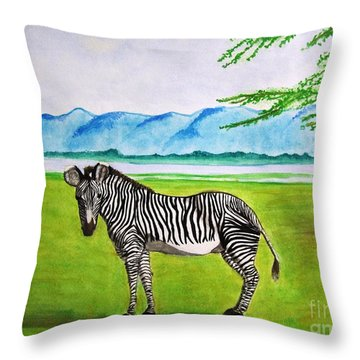 A Striped Chap Throw Pillow