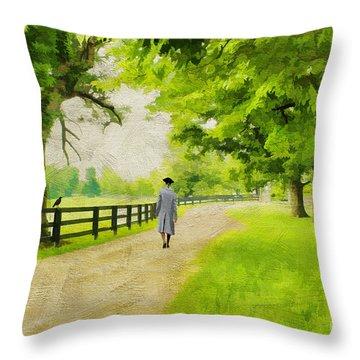 A Stroll Along The Bluegrass Throw Pillow by Darren Fisher