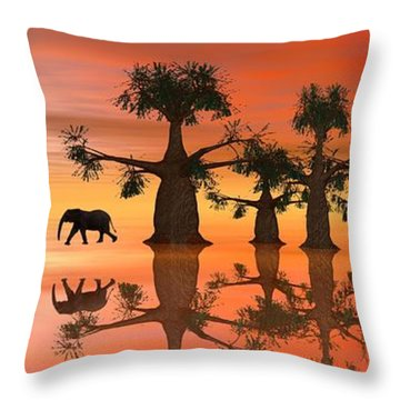 A Stroll By Moonlight II Throw Pillow by Jacqueline Lloyd