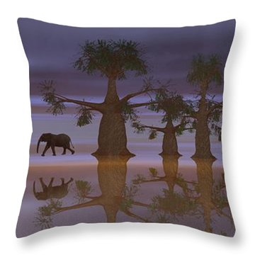 A Stroll By Moonlight Throw Pillow by Jacqueline Lloyd
