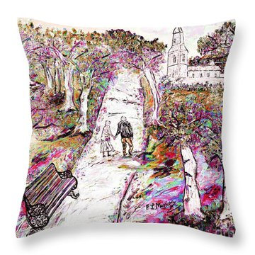 A Stroll In Autumn Throw Pillow
