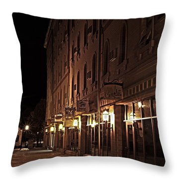Throw Pillow featuring the photograph A Stroll In The City by Deborah Klubertanz