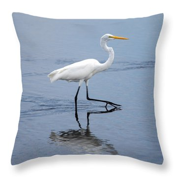 Throw Pillow featuring the photograph A Stroll In The Marsh by John M Bailey