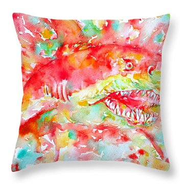 A Sudden Turn Can Come-a Road Appear Throw Pillow by Fabrizio Cassetta