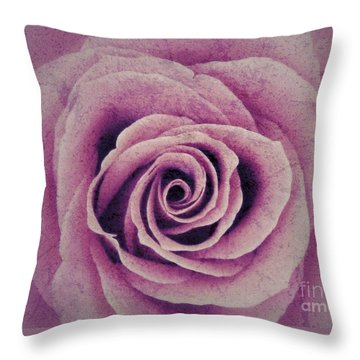A Sugared Rose Throw Pillow
