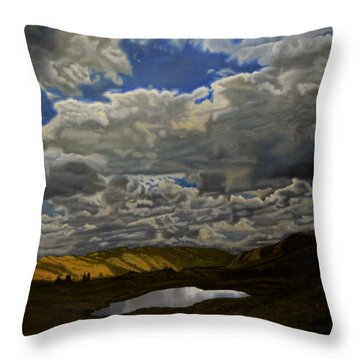 A Summer Day On Cottonwood Pass Throw Pillow by Thu Nguyen