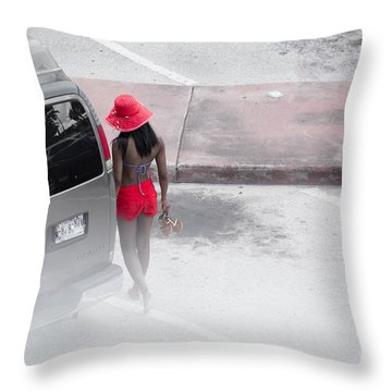 A Summer Splash Of Red  Throw Pillow by Rene Triay Photography