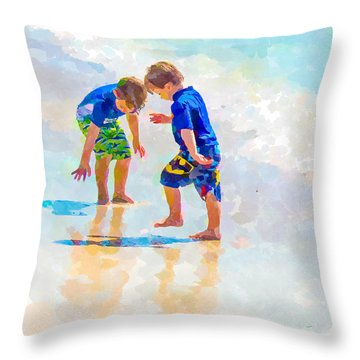 A Summer To Remember Iv Throw Pillow