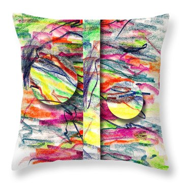 Throw Pillow featuring the drawing A Summers Day Breeze by Peter Piatt