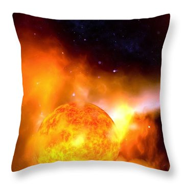 A Sun Rises Throw Pillow