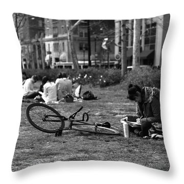 Throw Pillow featuring the photograph A Sunday Afternoon by Dorin Adrian Berbier