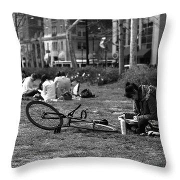 A Sunday Afternoon Throw Pillow