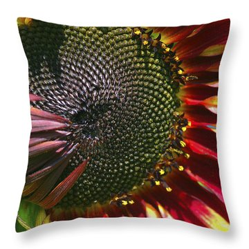 A Sunflower For The Birds Throw Pillow by Sharon Talson