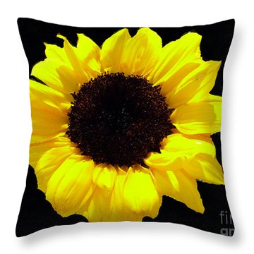 Throw Pillow featuring the photograph A Sunflower by Merton Allen