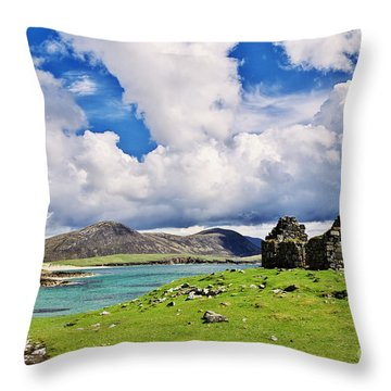 Throw Pillow featuring the photograph A Sunny Day In The Hebrides by Juergen Klust
