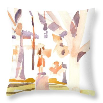 A Sunny Winters Day Throw Pillow by Kip DeVore