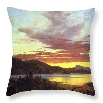 A Sunset By Frederick Edwin Church Throw Pillow