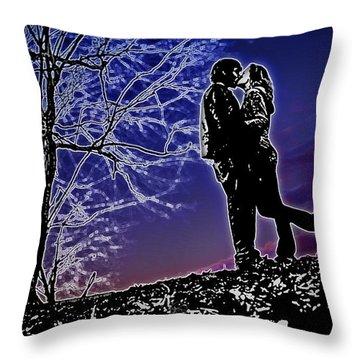 A Sunset Embrace Throw Pillow by Brian Archer