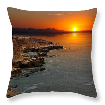 Throw Pillow featuring the photograph A Sunset by Lynn Geoffroy