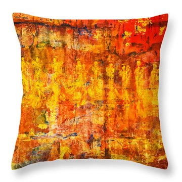 A Sunset Of Angels Throw Pillow