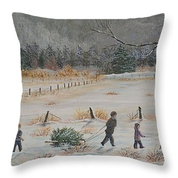 A Surprise For Momma Throw Pillow