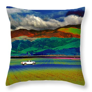 Throw Pillow featuring the photograph A Surreal Ride by Susan Wiedmann