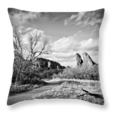 A Surreal Walk Throw Pillow by Cheryl McClure