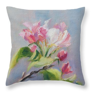 A Sweet Scent Throw Pillow by Debbie Lamey-MacDonald