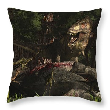 A T-rex Returns To His Kill And Finds Throw Pillow