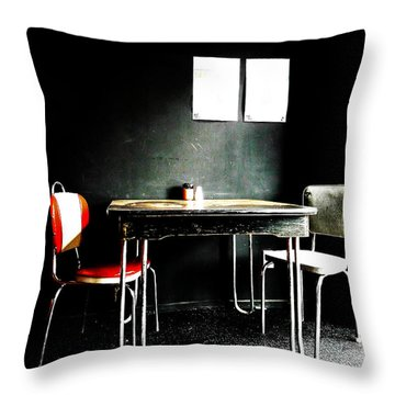 A Table For Two Throw Pillow by Steve Taylor