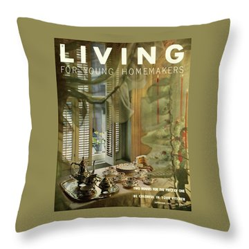 A Table Set By Community With China By Royal Throw Pillow