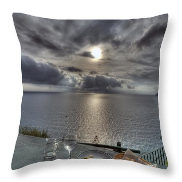 A Table With A View Throw Pillow