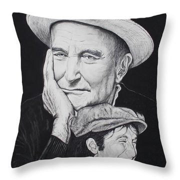 A Tale Of Two Faces Throw Pillow