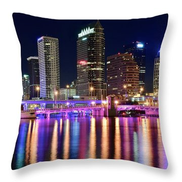 A Tampa Bay Night Throw Pillow