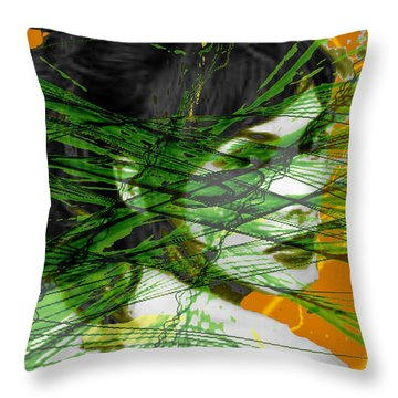 A Tangled Web Throw Pillow by Seth Weaver