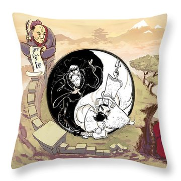 A Taste Of China Throw Pillow