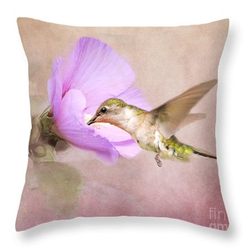A Taste Of Nectar Throw Pillow