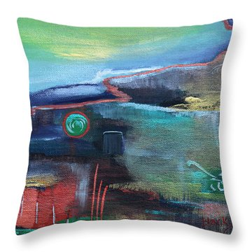 A Tear In Time Throw Pillow by Donna Blackhall