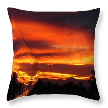 Throw Pillow featuring the digital art A Teardrop In Time by Joyce Dickens