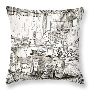 A Tendency To Leave The Washing-up Till Throw Pillow by Pont