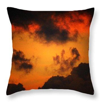 A Textured Morning Throw Pillow