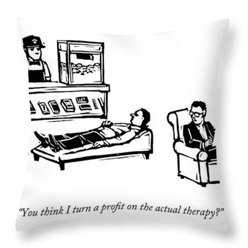A Therapist's Office With A Concession Stand Throw Pillow