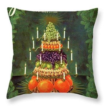 A Tiered Christmas Centerpiece Throw Pillow