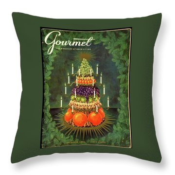 A Tiered Christmas Centerpiece Throw Pillow